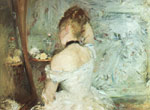 Morisot, Berthe A Woman at her Toilette, 1875 Art Reproductions