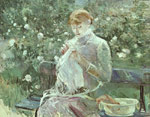 Morisot, Berthe Young Woman Sewing in a Garden Art Reproductions