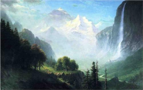 Staubbach Falls  Painting Reproductions
