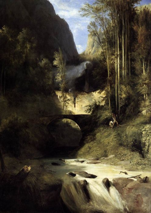 Gorge at Amalfi, 1831  Painting Reproductions