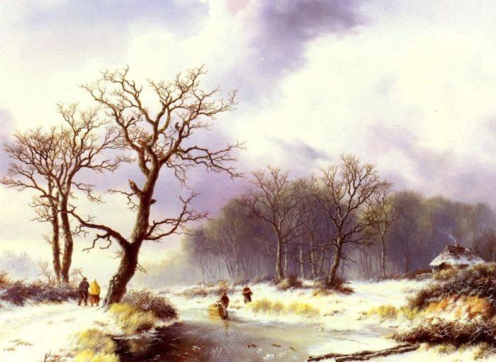 A Winter Landscape , 1844  Painting Reproductions