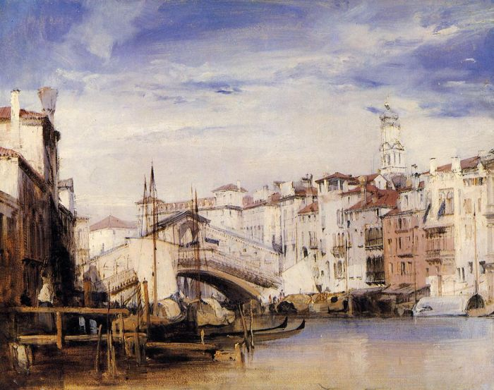 The Rialto, Venice, 1826  Painting Reproductions