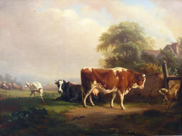 Cows at Pasture  Painting Reproductions