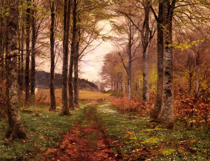 A Woodland Landscape, 1900  Painting Reproductions