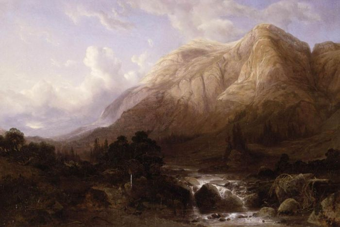 Mountainous Landscape with a Torrent, 1840  Painting Reproductions