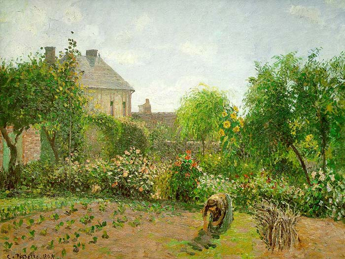 The Artist's Garden at Eragny, 1898  Painting Reproductions