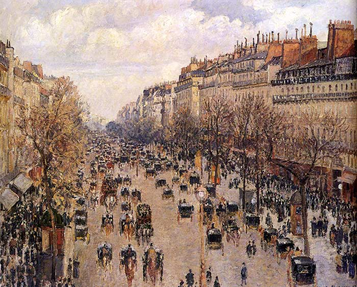 Boulevard Montmartre, 1897  Painting Reproductions