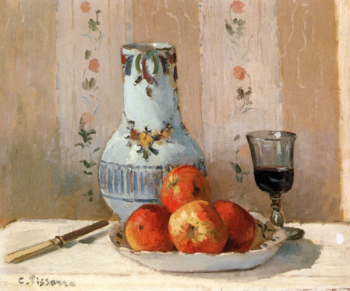 Still Life with Apples and Pitcher, 1872  Painting Reproductions