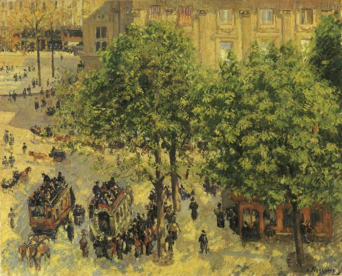The French Theatre Plaza, 1898  Painting Reproductions