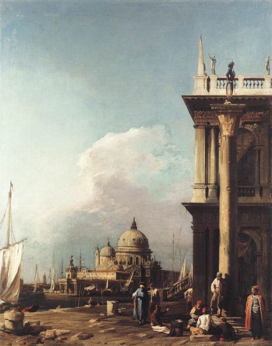 Venice: The Piazzetta Looking South-west towards S. Maria della Salute, 1725  Painting Reproductions