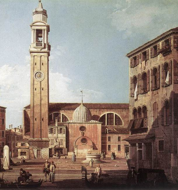 View of Campo Santi Apostoli - detail, 1730  Painting Reproductions