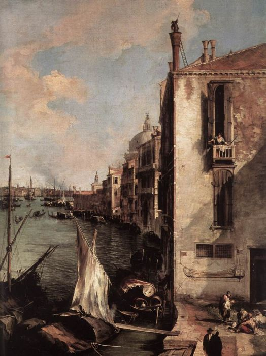 Grand Canal, Looking East from the Campo San Vio, 1723  Painting Reproductions