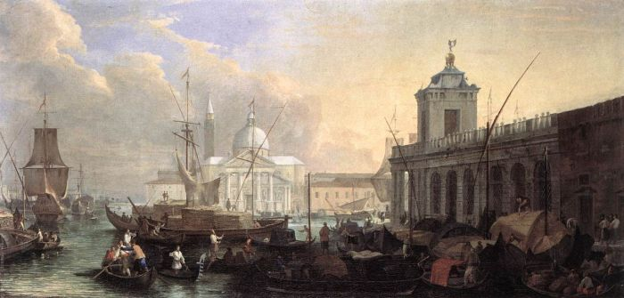 The Sea Custom House with San Giorgio Maggiore, 1700  Painting Reproductions