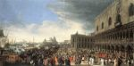 Carlevaris, Luca The Reception of Cardinal Cesar d'Estrees, 1701 Art Reproductions