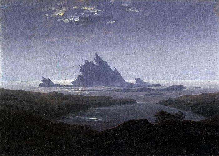 Rocky Reef on the Sea Shore, 1824  Painting Reproductions