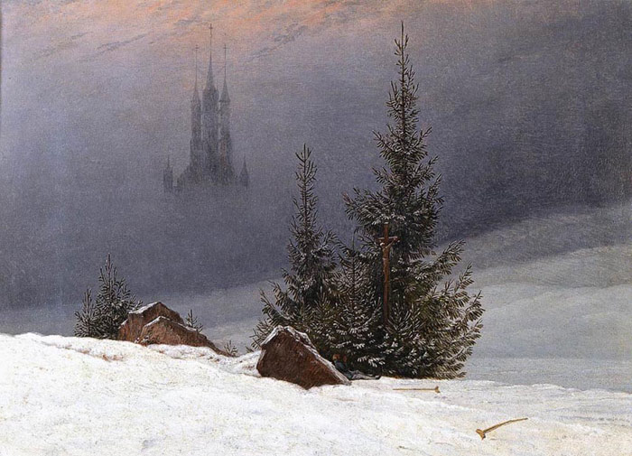 Winter Landscape with Church, 1811  Painting Reproductions