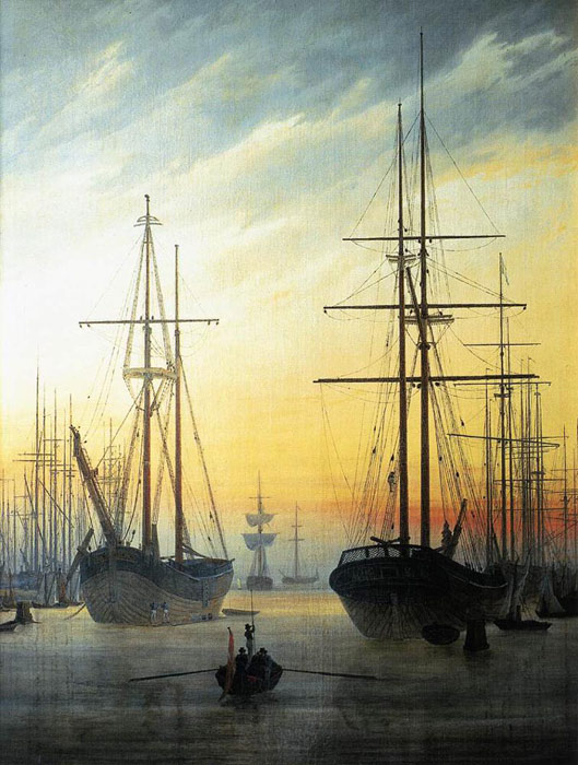 View of a Harbour, 1815-1816  Painting Reproductions