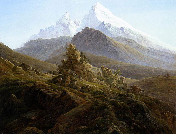 The Watzmann, 1824-1825  Painting Reproductions