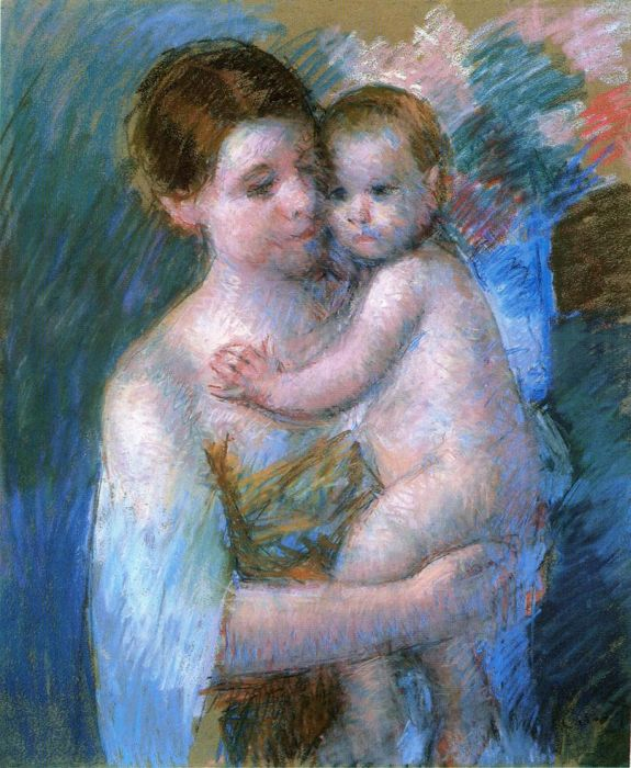 Mother Holding Her Baby, 1914  Painting Reproductions