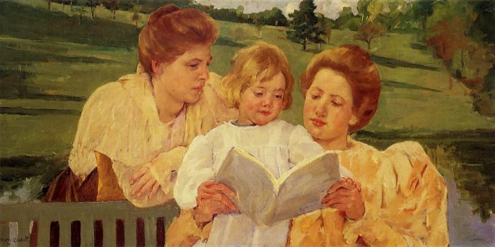 The Garden Reading , 1898  Painting Reproductions