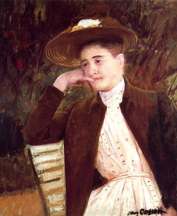 Celeste in a Brown Hat , 1891  Painting Reproductions