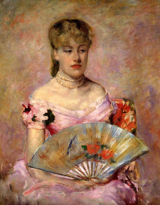 Lady with a Fan, 1880  Painting Reproductions