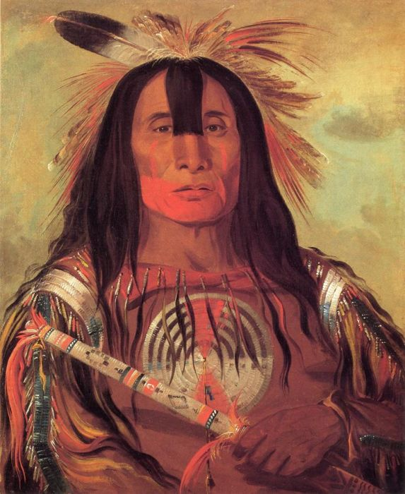 Buffalo Bull's Back Fat, Head Chief, Blood Tribe, 1832  Painting Reproductions