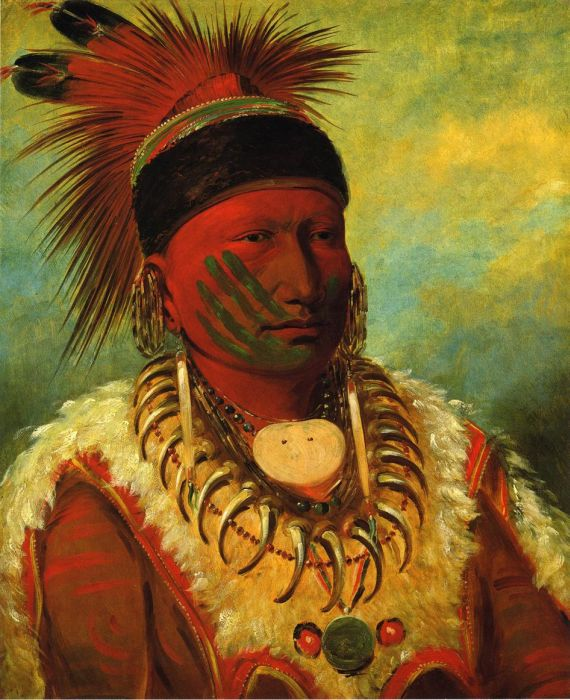 Little Bear, Hunkpapa Brave , 1832  Painting Reproductions
