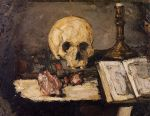 0 Still Life with Skull and Candlestick, 1866 Art Reproductions
