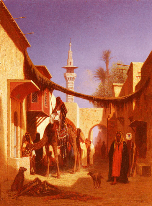 Street In Damascus and Street In Cairo: A Pair of Painting (Pic 2)  Painting Reproductions