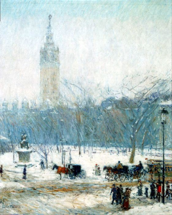 Snowstorm, Madison Square, c. 1890  Painting Reproductions