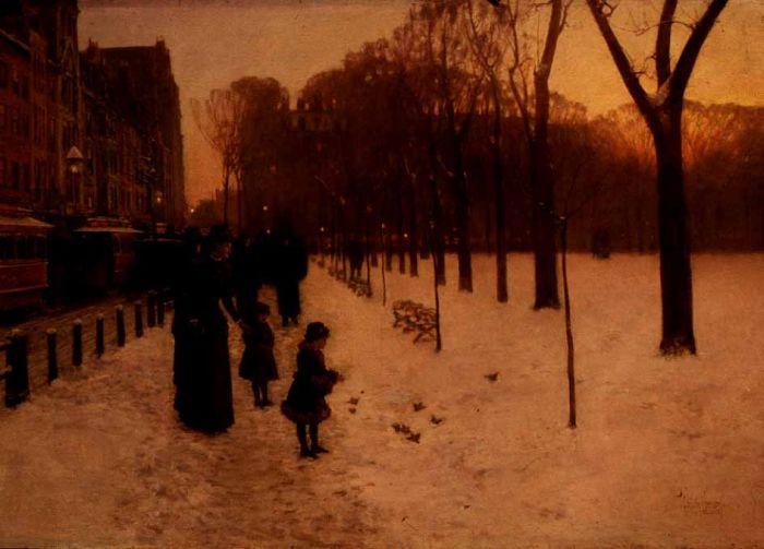 Boston Common at Twilight, 1885  Painting Reproductions