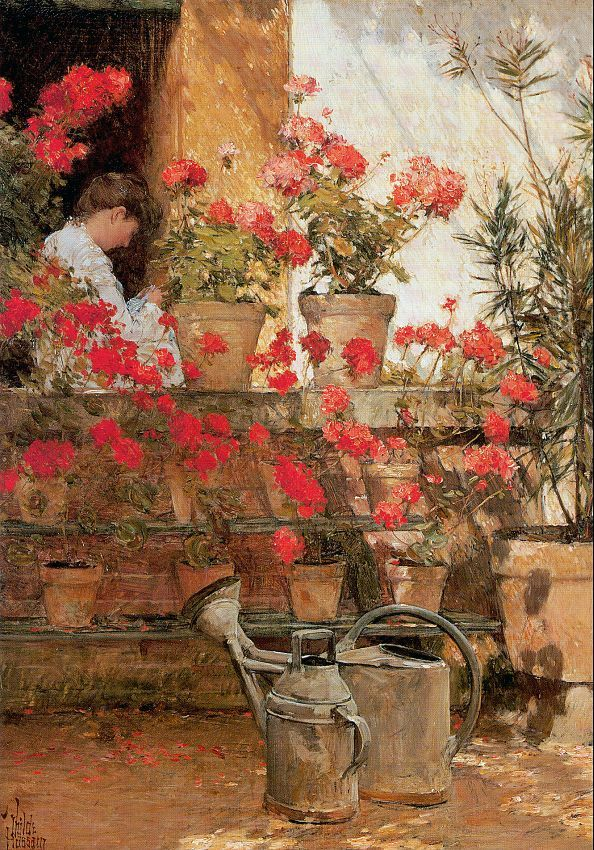 Geraniums, 1888  Painting Reproductions