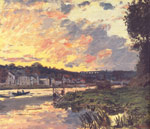 Monet, Claude Oscar The Seine at Bougival in the Evening, 1869 Art Reproductions