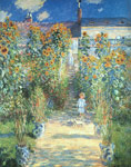 Monet, Claude Oscar The Artist's Garden at Vetheuil Art Reproductions