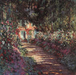 Monet, Claude Oscar The garden in flower,  1900 Art Reproductions
