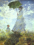 Monet, Claude Oscar Woman with a Parasol, 1875 Art Reproductions