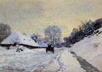 Monet, Claude Oscar A Cart on the Snow Covered Road with Saint-Simeon Farm, 1865	 Art Reproductions