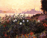 Monet, Claude Oscar Argenteuil, Flowers by the Riverbank, 1877	 Art Reproductions