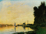 Monet, Claude Oscar Argenteuil, Late Afternoon , 1872 Art Reproductions