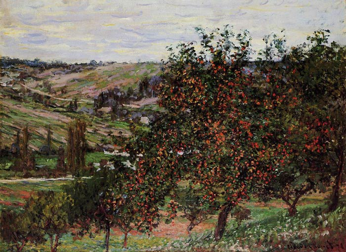 Apple Trees near Vetheuil , 1878	  Painting Reproductions