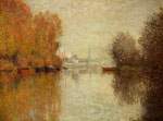 Monet, Claude Oscar Autumn on the Seine at Argenteuil , 1873	 Art Reproductions