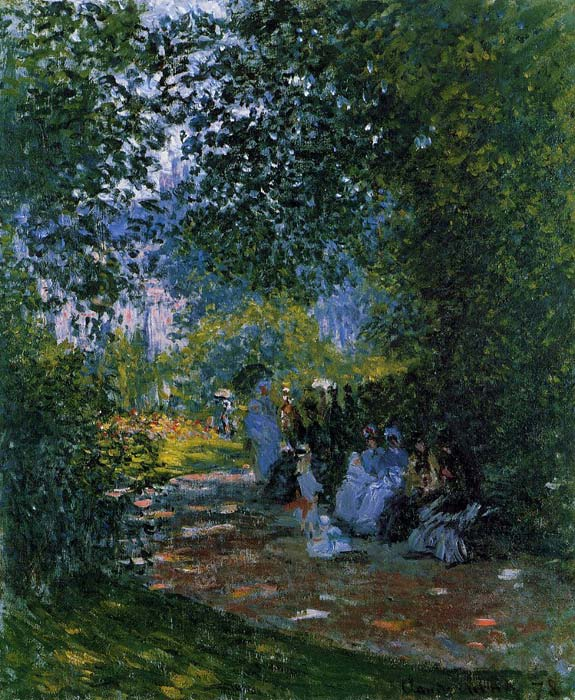 At the Parc Monceau , 1878  Painting Reproductions