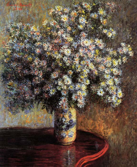 Asters , 1880	 Monet, Claude Oscar Painting Reproductions