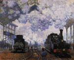 Monet, Claude Oscar Arrival at Saint-Lazare Station , 1876	 Art Reproductions