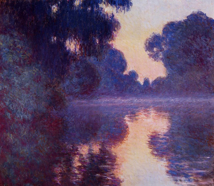 Arm of the Seine near Giverny at Sunrise , 1897	  Painting Reproductions