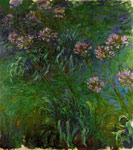Monet, Claude Oscar Agapanathus , 1914	 Art Reproductions