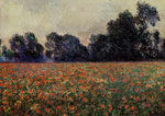 Monet, Claude Oscar Poppies at Giverny, 1887	 Art Reproductions