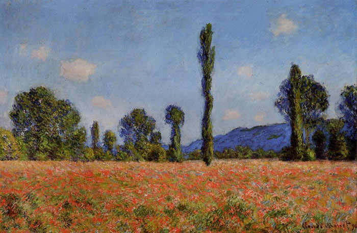 Poppy Field , 1890	  Painting Reproductions