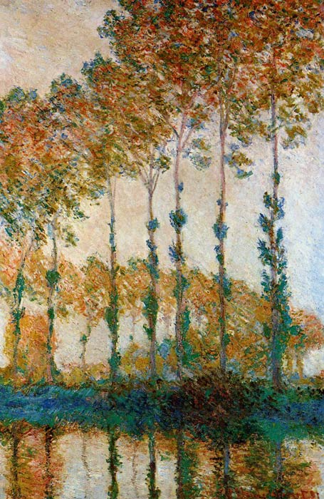 Poplars on the Banks of the River Epte in Autumn, 1891	  Painting Reproductions